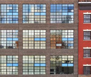 Fachada de un edificio a vista de dron