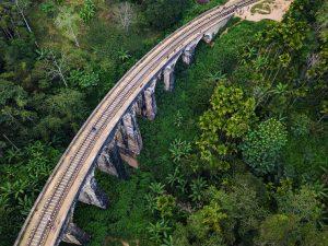 Inspección aérea, vista aérea de Bosques en Sri Lanka