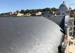 Proyecto Inspección de infraestructuras y seguimiento de obras de la cubierta del Gran Teatro Bankia Príncipe Pío con Time Lapse por Dron Spain